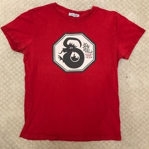Lucky Brand red dragon tee